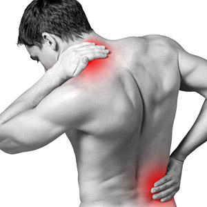 Man with neck and shoulder pain